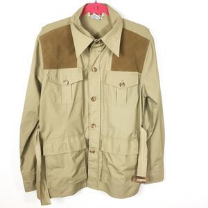 Cabelas Hunting Shooting Quilted Shoulder Shirt M
